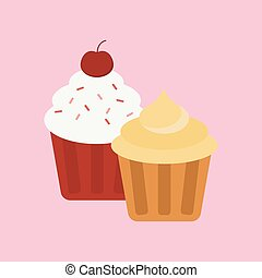 Sweet cake isolated traditional holliday vector illustration...