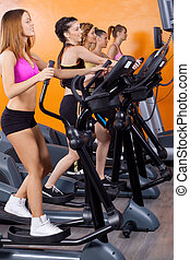 women doing exercise
