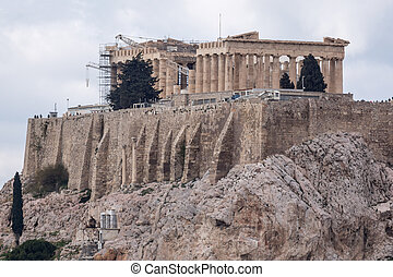 Amazing view of the Acropolis of Athens, Attica, Greece