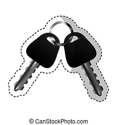car key silhouette icon vector illustration design