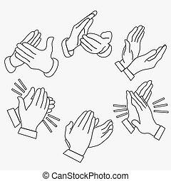 Applause, clapping hands - Applause clapping hands set....