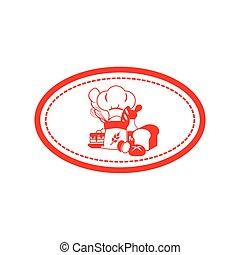 bakery icon vector logo