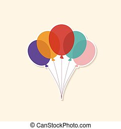 Vector illustration of Colorful Balloons Color Glossy Balloons Festive