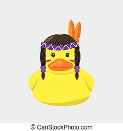 bath duck , indigenous people series