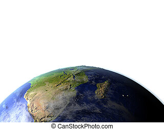 South Africa on realistic model of Earth - South Africa on...