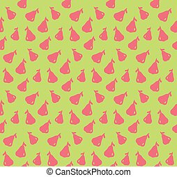 Rose apple pattern colorful seamless illustration isolated...