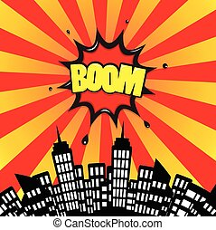 boom icon comic