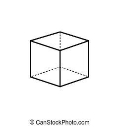 3d cube logo design icon, vector