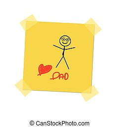 love dad on post it