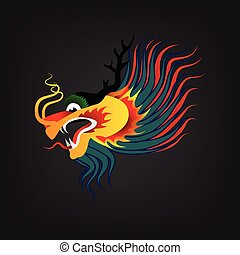 vector illustration Traditional Chinese dragon