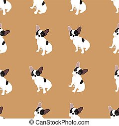 French Bulldog dog vector