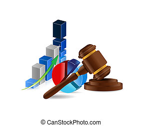 law business profits concept illustration