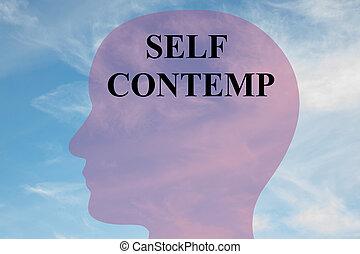 Self Contempt - mental concept - Render illustration of...