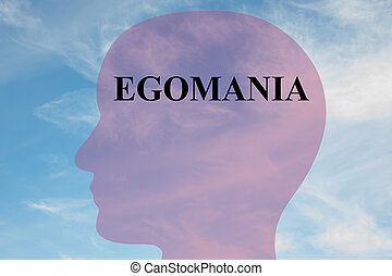 Egomania - personality concept - Render illustration of...