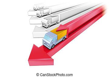 Vans red arrow