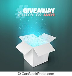 Vector White Box Giveaway Competition Template -...