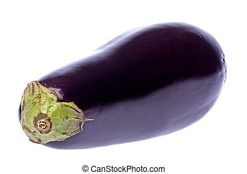 Aubergine Isolated - Isolated image of a fresh aubergine