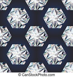Diamond stone seamless background, vector illustration