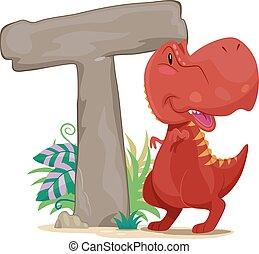 Dino Letter Tyrannosaurus Rex