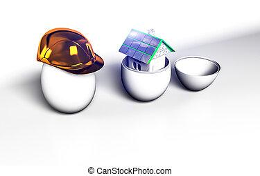 egg construction helmet 3drender