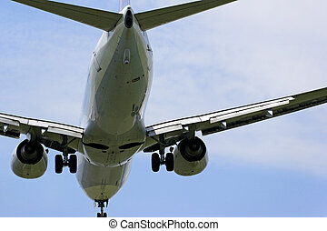 Airplane Landing - Image of an airplane about to land.