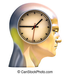 3d Portrait of Worried Stressed Overwhelmed Man - Time...