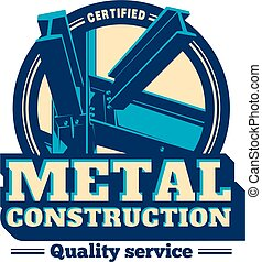 Building construction metal frame logo. - Building framework...