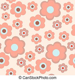 Stylish seamless texture with flowers on a pink background -...
