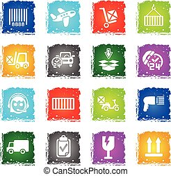delivery service icon set - delivery service web icons in...