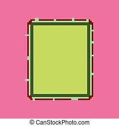 pixel icon in flat style sandwich