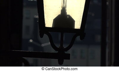 The old street lamp in Stockholm. Sweden. - The old street...