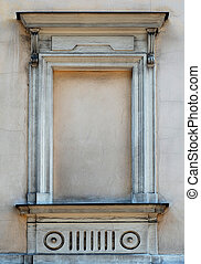 window frame in tenement-house in Cracow - Poland