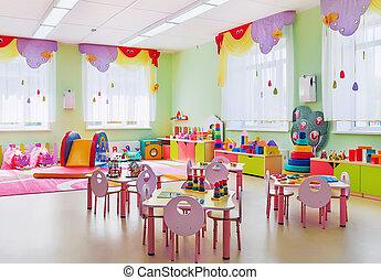 Kindergarten, playroom.