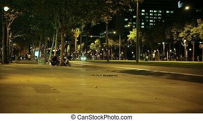 Landmarks of Barcelona evening - Spain Barcelona summer...