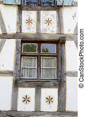 Half timbered house at the ecomusee in Alsace
