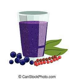 Red Currant And Blueberry Smoothie, Non-Alcoholic Fresh...