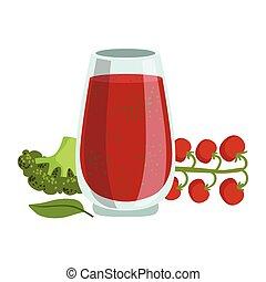Tomato And Broccoli Smoothie, Non-Alcoholic Fresh Cocktail...
