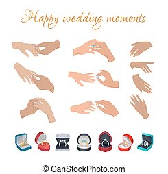 Happy Wedding Moments Rings on Fingers Collection - Happy...