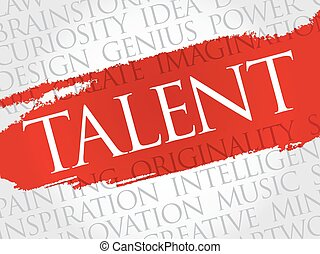 Talent word cloud collage