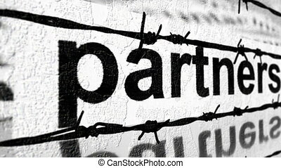 Partnership and barbwire concept