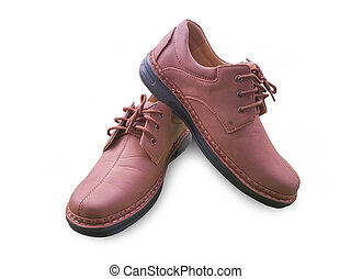 Isolated brown man leather shoe