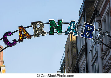Close Up Of Carnaby Street Sign In London