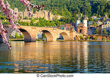 Bridge in Heidelberg at spring, Germany