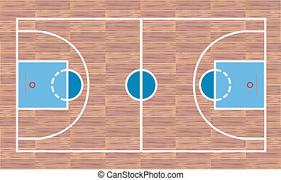 Basketball court - View from above