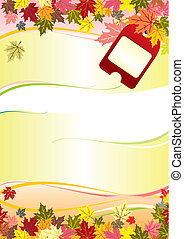 autumn frame - autumn vector background with leaves and...