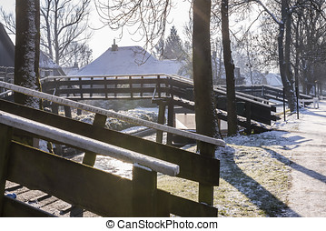 Winter Bridges in Giethoorn