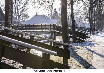 Winter Bridges in Giethoorn