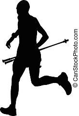 man running mountain marathon