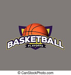 Isolated basketball emblem on a colored background, Vector...