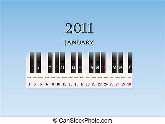 january 2011 ( piano keys )